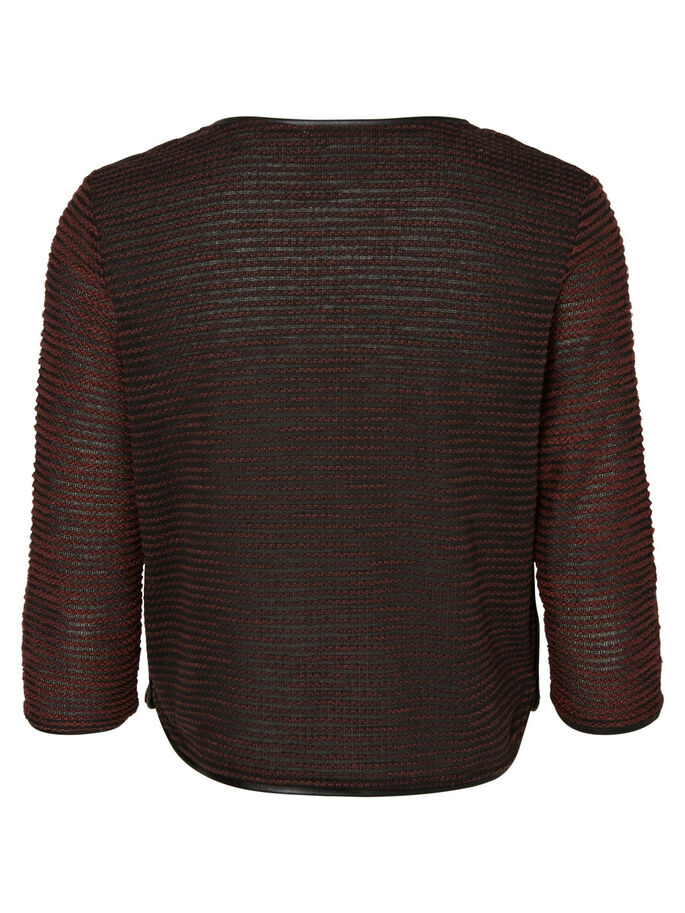 SWEAT CARDIGAN, Decadent Chocolate, large
