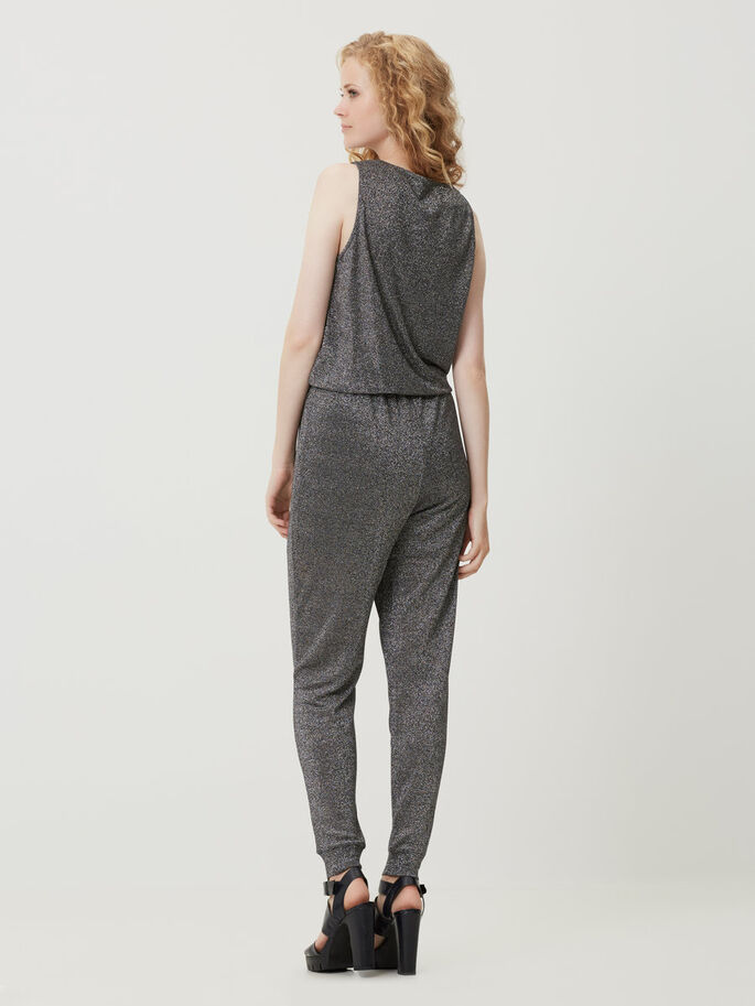 SLEEVELESS JUMPSUIT, Black, large