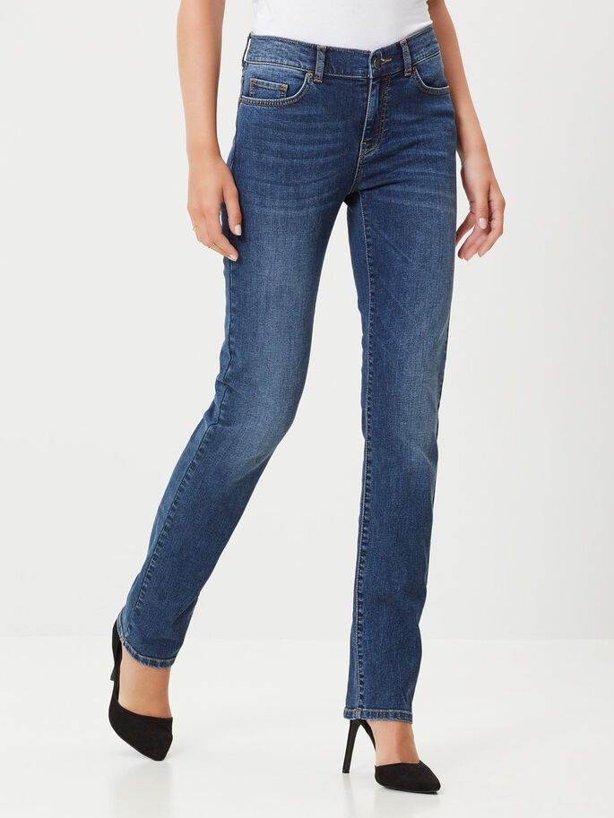 FIFTEEN NW STRAIGHT FIT JEANS, Medium Blue Denim, large