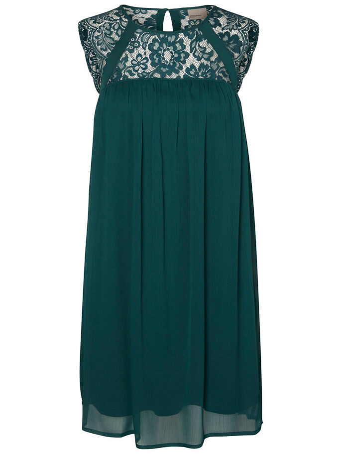 LACE SLEEVELESS DRESS, Ponderosa Pine, large