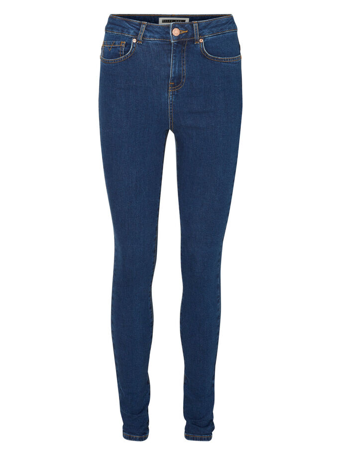 LEXI HW SKINNY FIT JEANS, Medium Blue Denim, large