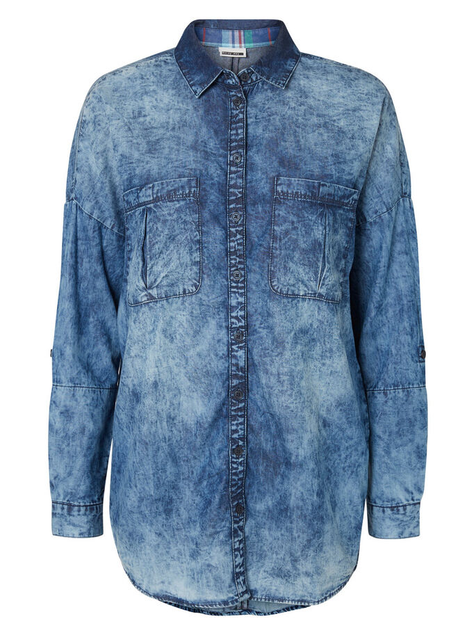 JEANS- HEMD, Medium Blue Denim, large