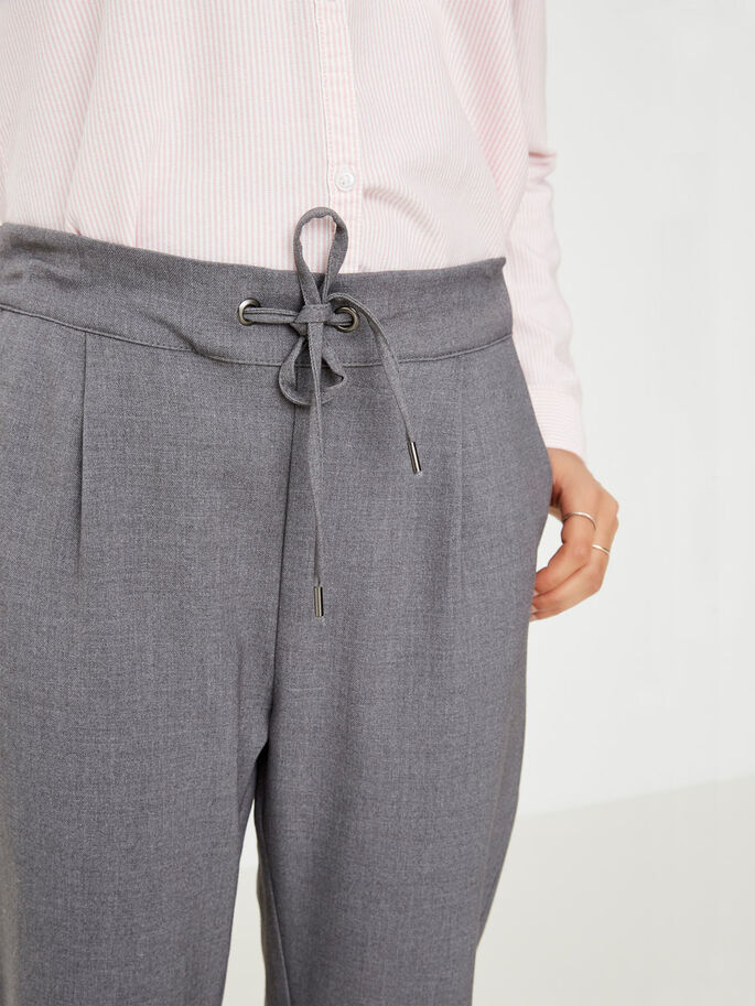 RORY LOOSE FIT TROUSERS, Medium Grey Melange, large