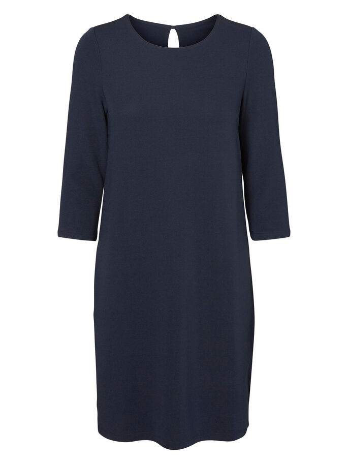 3/4 SLEEVED DRESS, Total Eclipse, large