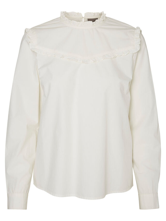 FEMININE LONG SLEEVED SHIRT, Snow White, large
