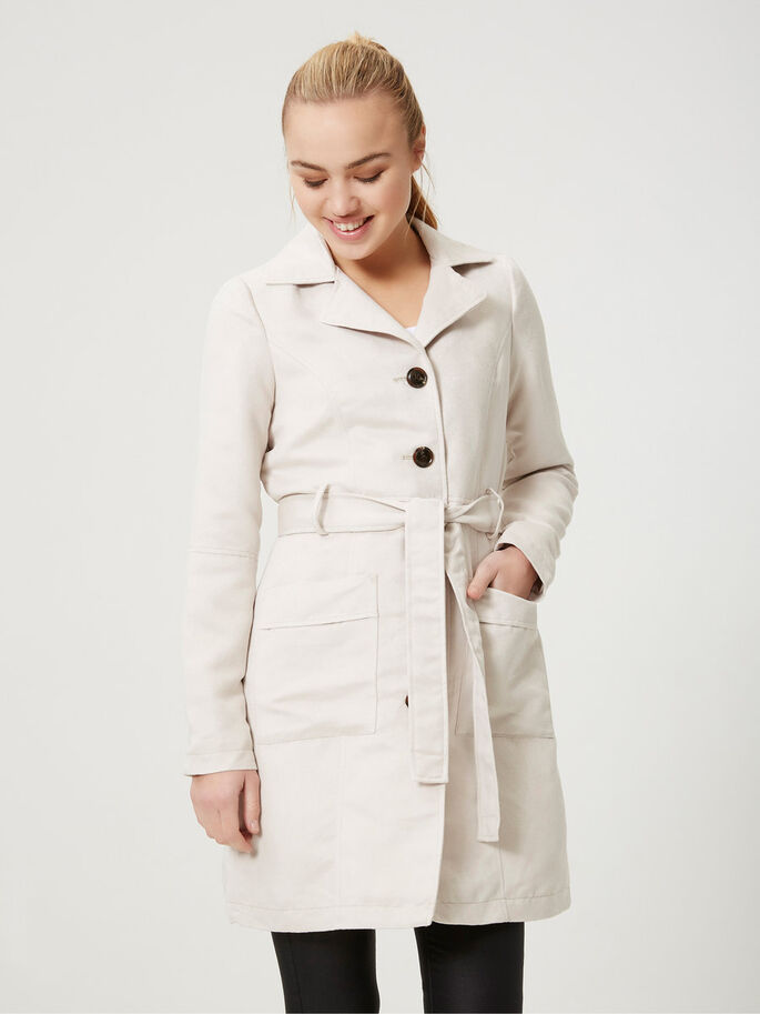 KUNSTWILDLEDER- TRENCHCOAT, Moonbeam, large