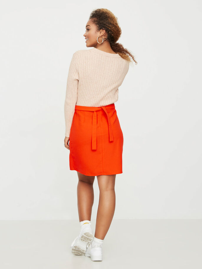 SHORT DETAILED SKIRT, Grenadine, large