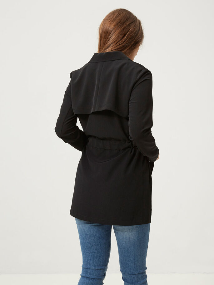 SHORT TRENCHCOAT, Black, large