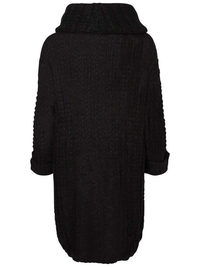 3/4-ÄRMELIGER STRICKPULLOVER, Black, large