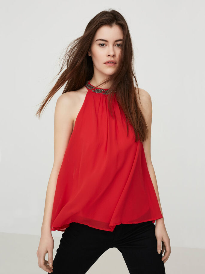 HALTERNECK ERMELØS TOPP, Racing Red, large