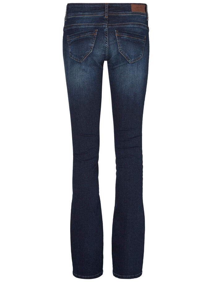 DINA LW FLARED JEANS, Dark Blue Denim, large