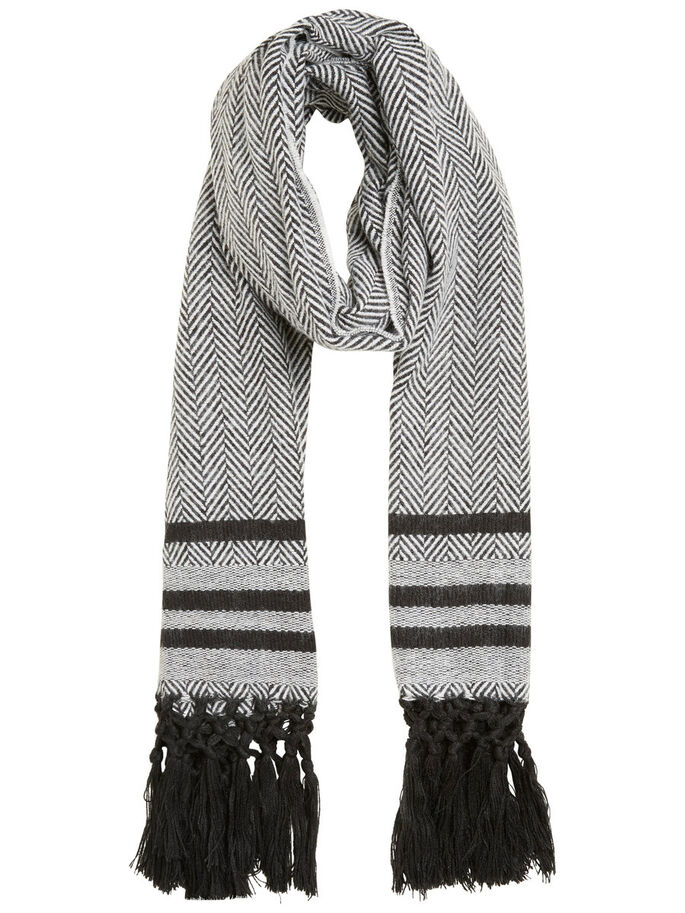 KNITTED SCARF, Black, large