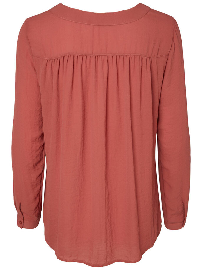 LONG SLEEVED SHIRT, Dusty Cedar, large