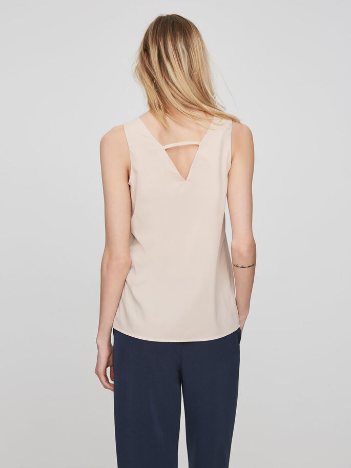 DETAILED SLEEVELESS TOP, Cameo Rose, large