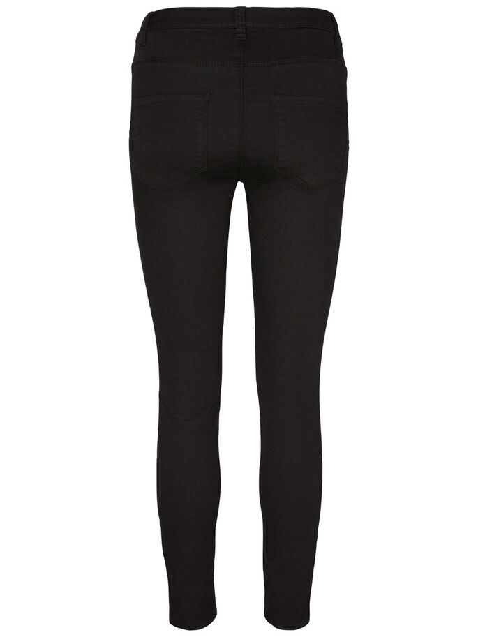 HW SLIM FIT BROEK, Black, large