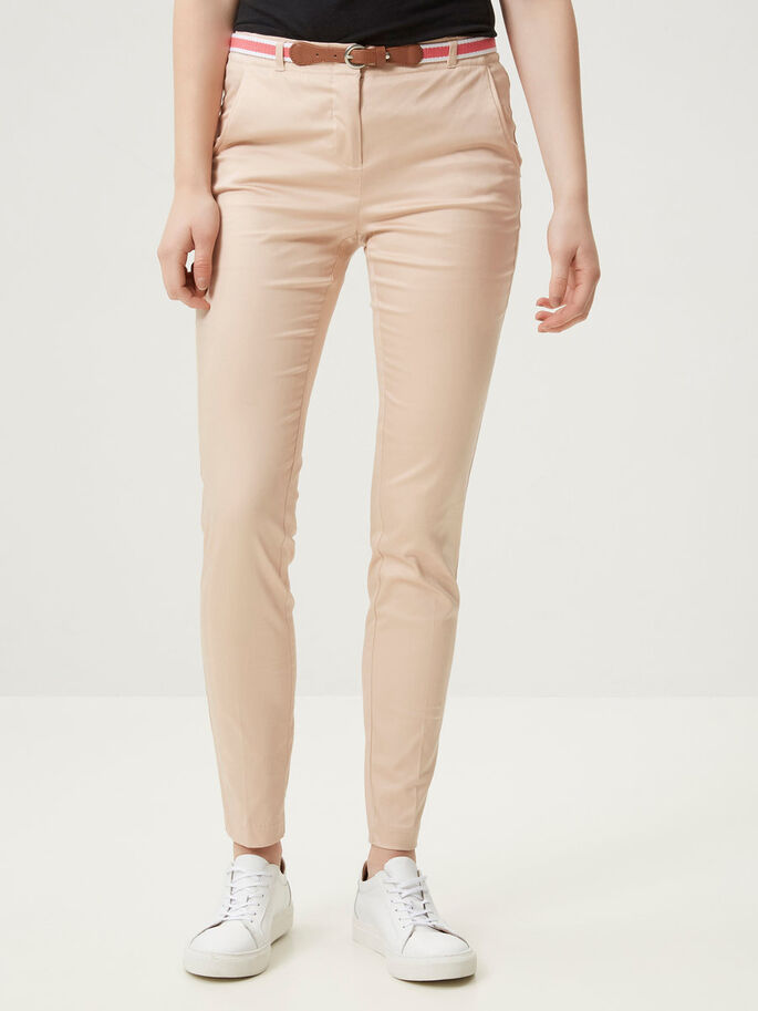 SLIM-FIT- HOSE, Rose Dust, large