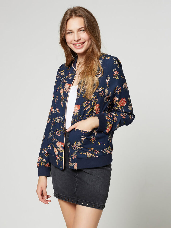 BOMBER JACKET, Black Iris, large