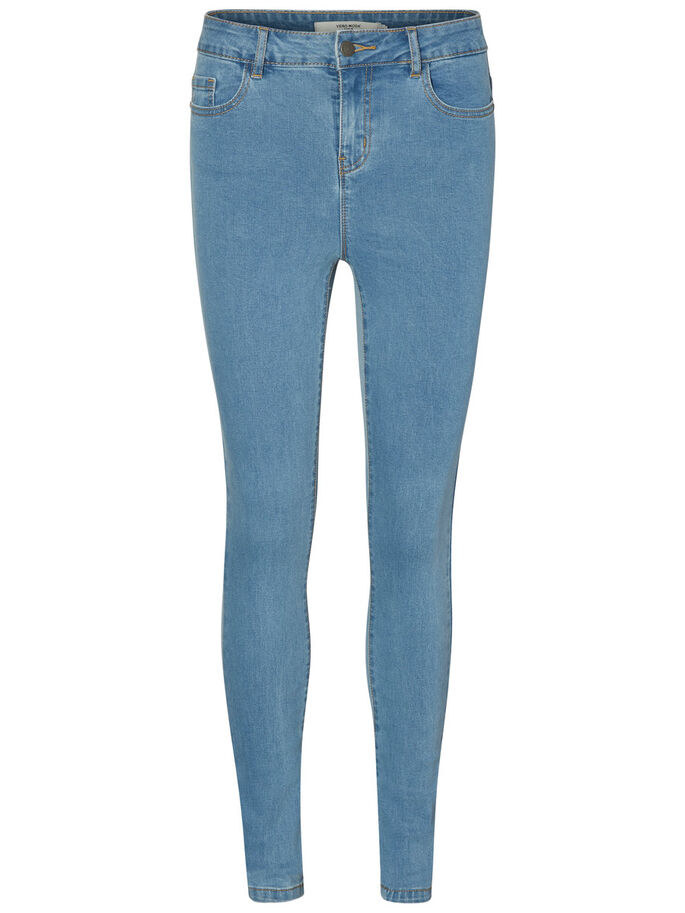 NINE HW SKINNY FIT JEANS, Light Blue Denim, large