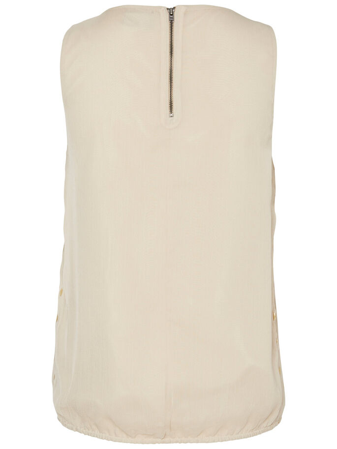DETAILED SLEEVELESS TOP, Oatmeal, large