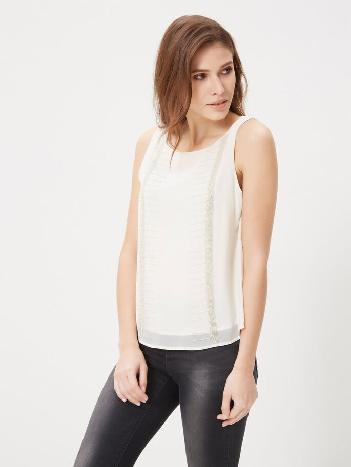 FEMININE SLEEVELESS TOP, Moonbeam, large