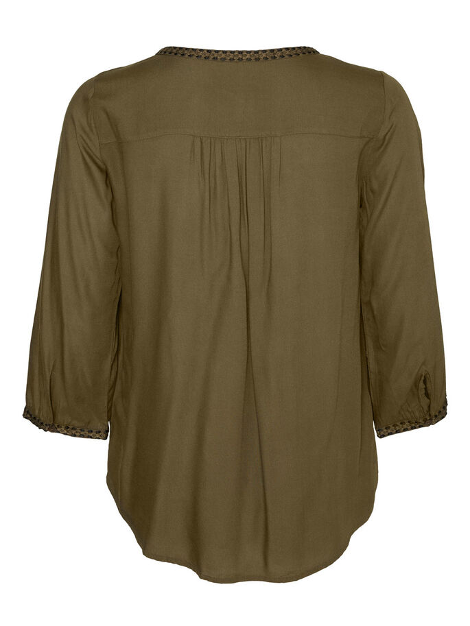 FÉMININ BLOUSE MANCHES 3/4, Ivy Green, large