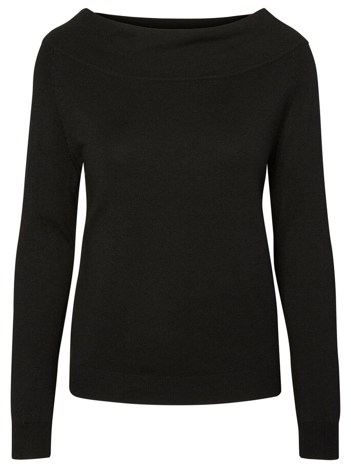 CASUAL LONG SLEEVED BLOUSE, Black Beauty, large