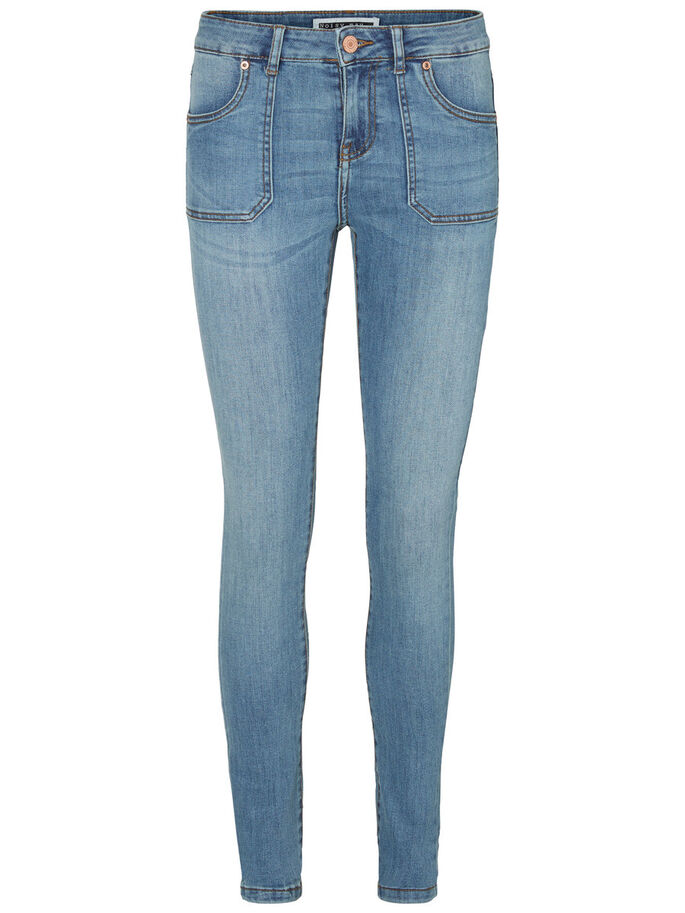 LUCY NW SKINNY FIT-JEANS, Medium Blue Denim, large