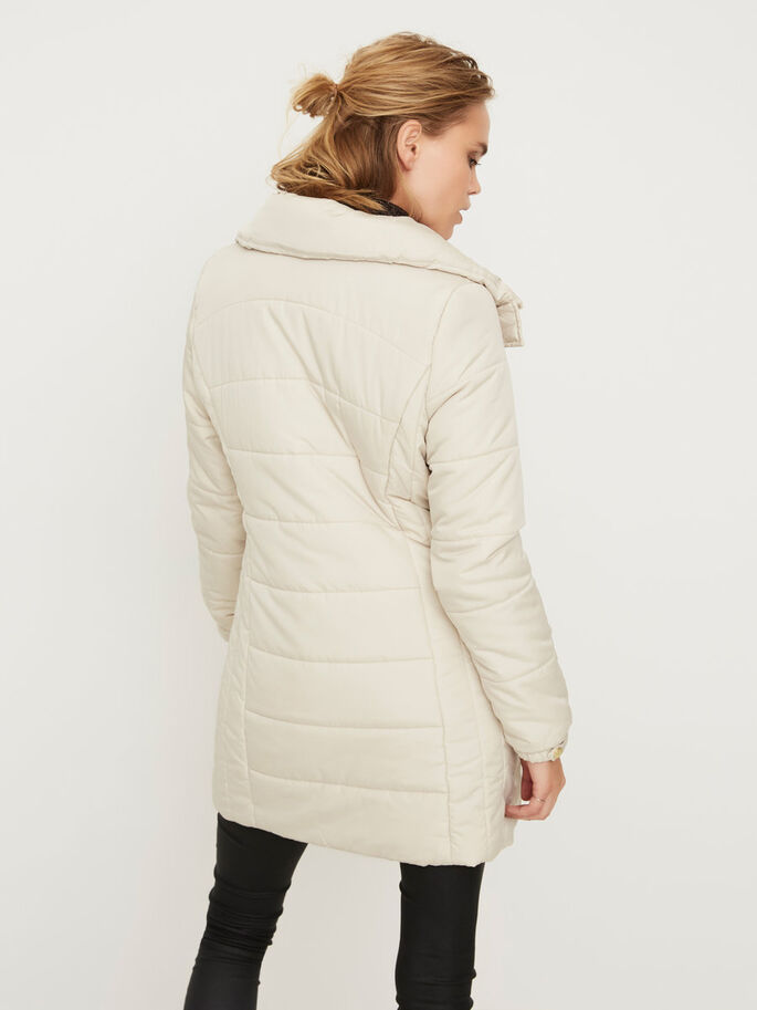 PADDED JACKET, Oatmeal, large