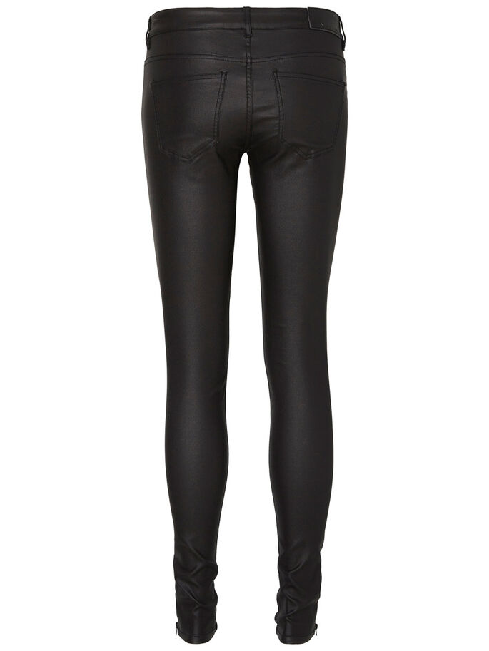 EVE LW COATED TROUSERS, Black, large