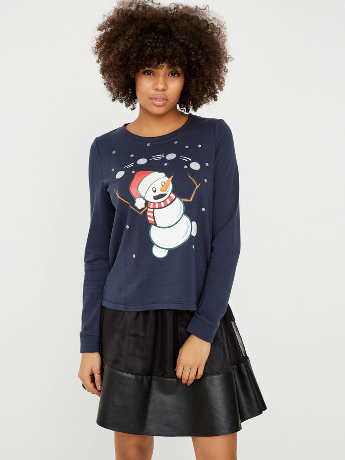 CHRISTMAS SWEATSHIRT, Navy Blazer, large