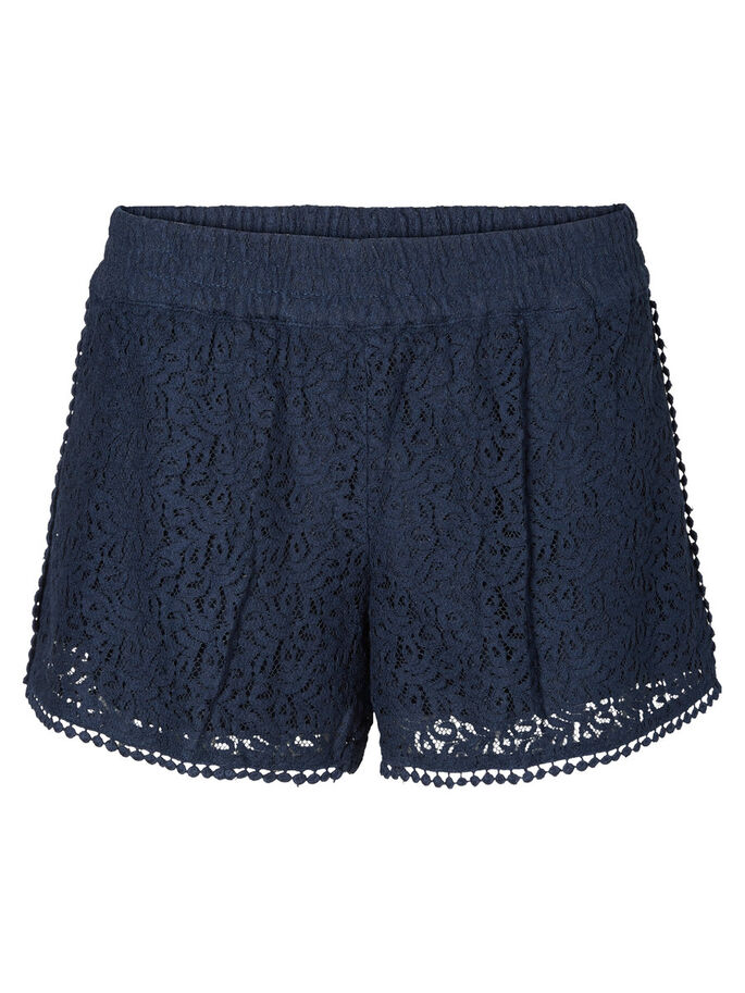 LACE SHORTS, Navy Blazer, large