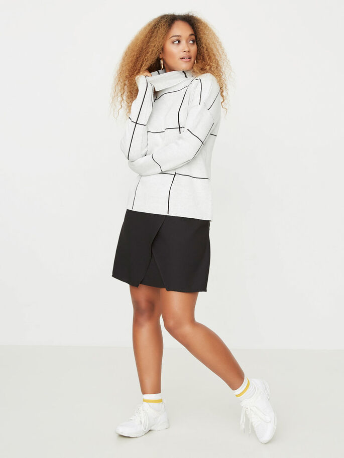 SHORT DETAILED SKIRT, Black, large