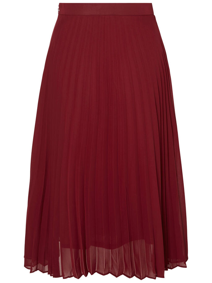 PLEATED SKIRT, Zinfandel, large