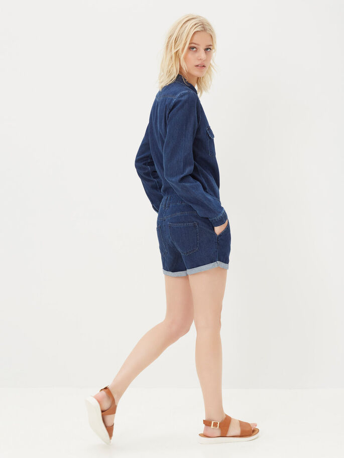 JEANS- PLAYSUIT, Dark Blue Denim, large