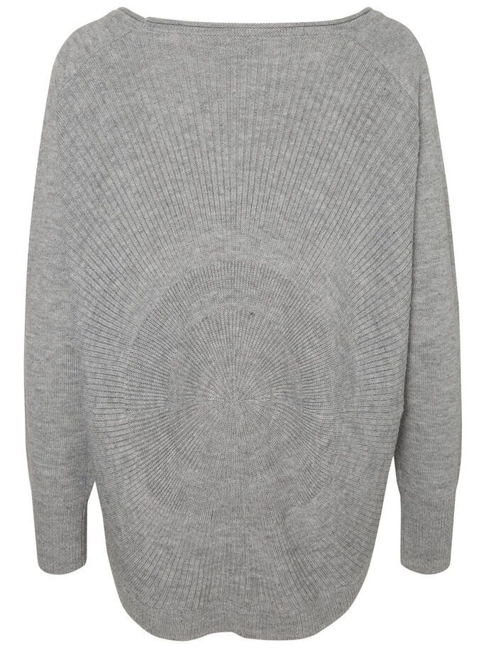 LANGÄRMELIGER STRICKPULLOVER, Light Grey Melange, large