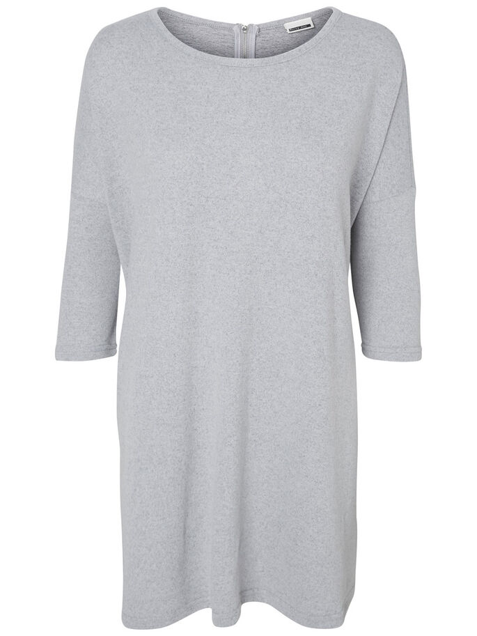 OVERSIZED SHORT DRESS, Light Grey Melange, large