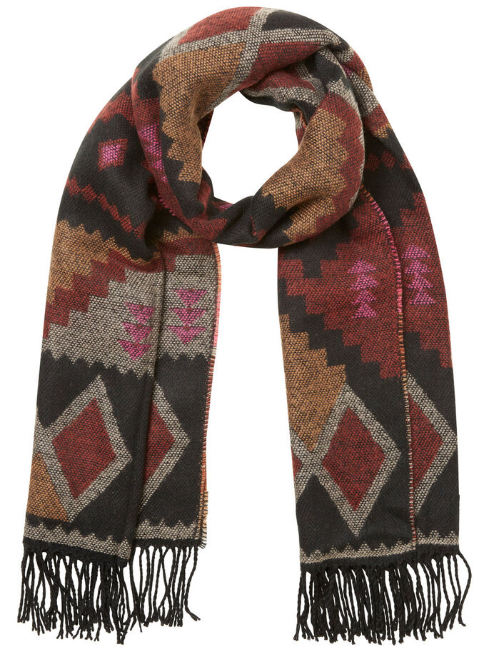 KNITTED SCARF, Adobe, large