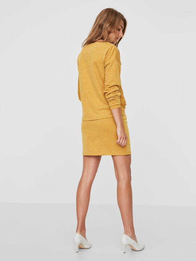 MANCHES LONGUES ROBE, Harvest Gold, large
