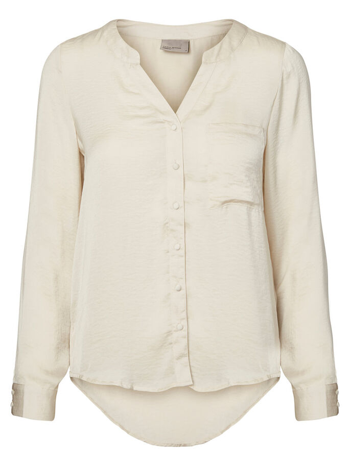 FEMININE LONG SLEEVED SHIRT, Moonbeam, large