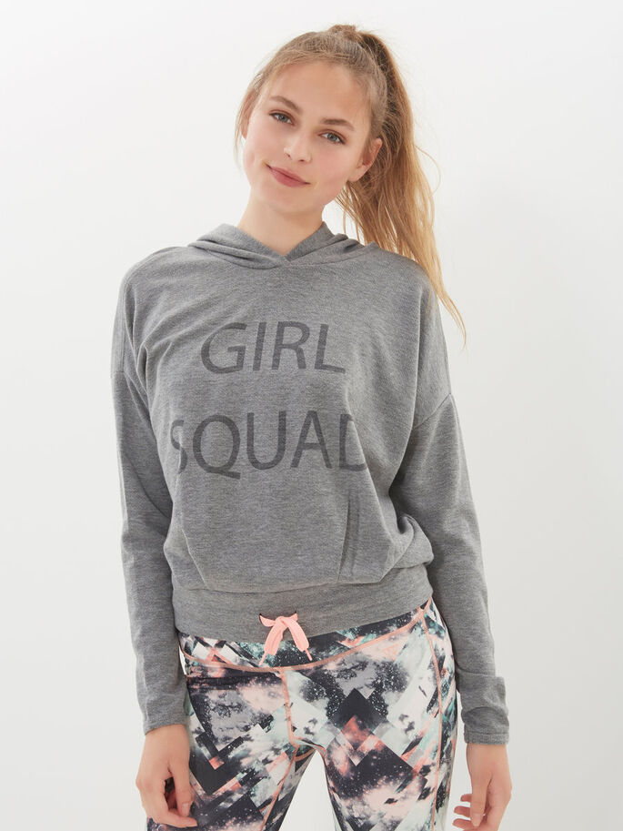 LONG SLEEVED SWEATSHIRT, Light Grey Melange, large