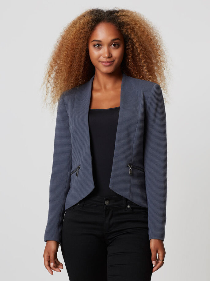 LONG SLEEVED BLAZER, Ombre Blue, large