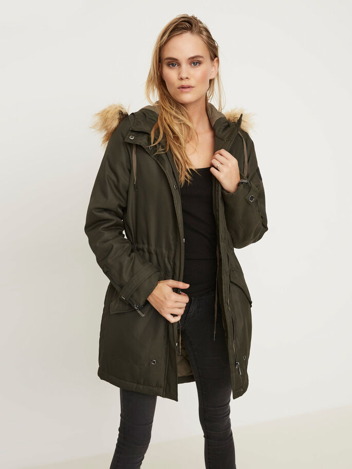 WINTER PARKA COAT, Peat, large