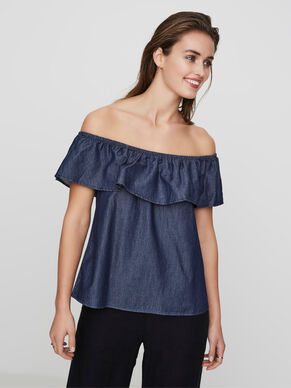 OFF-SHOULDER SLEEVELESS TOP