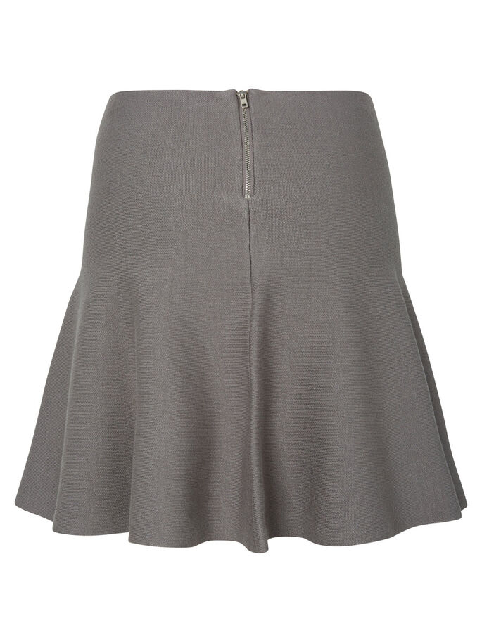 HIGH WAIST SKIRT, Medium Grey Melange, large