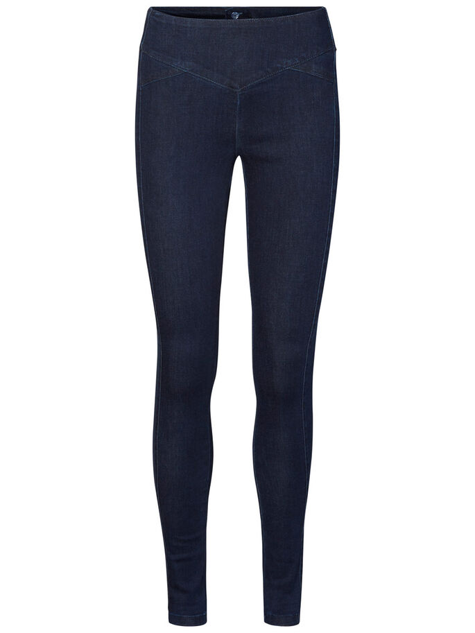 HW SKINNY FIT HOSE, Dark Blue Denim, large