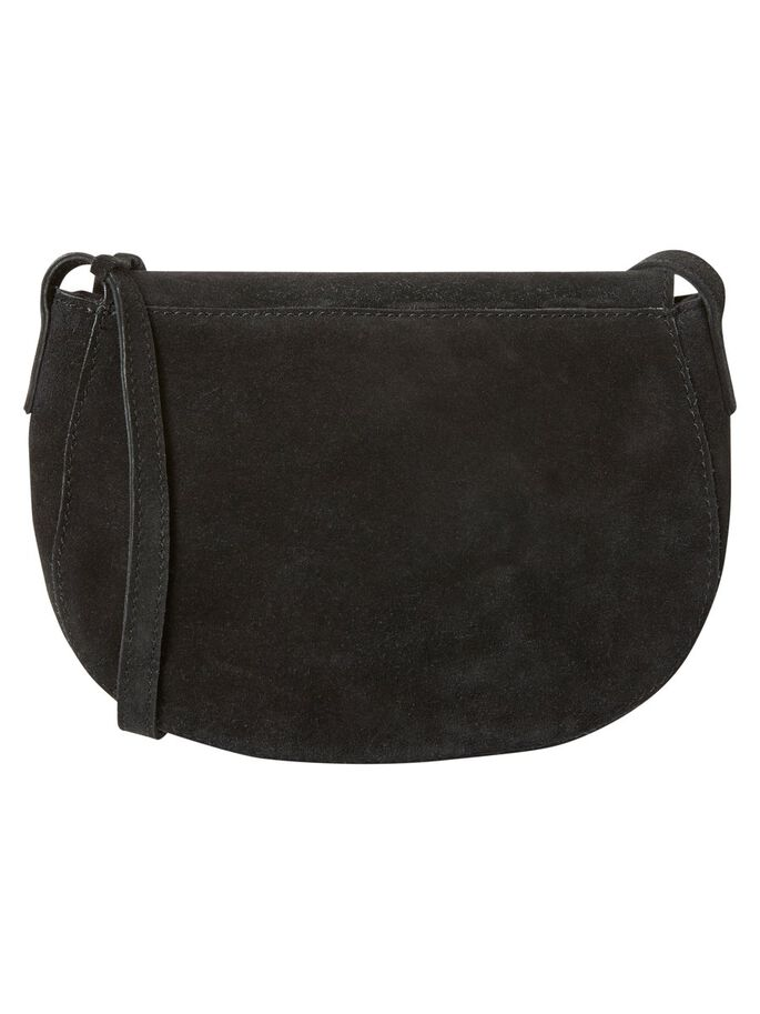 SUEDE CROSSBODY BAG, Black, large