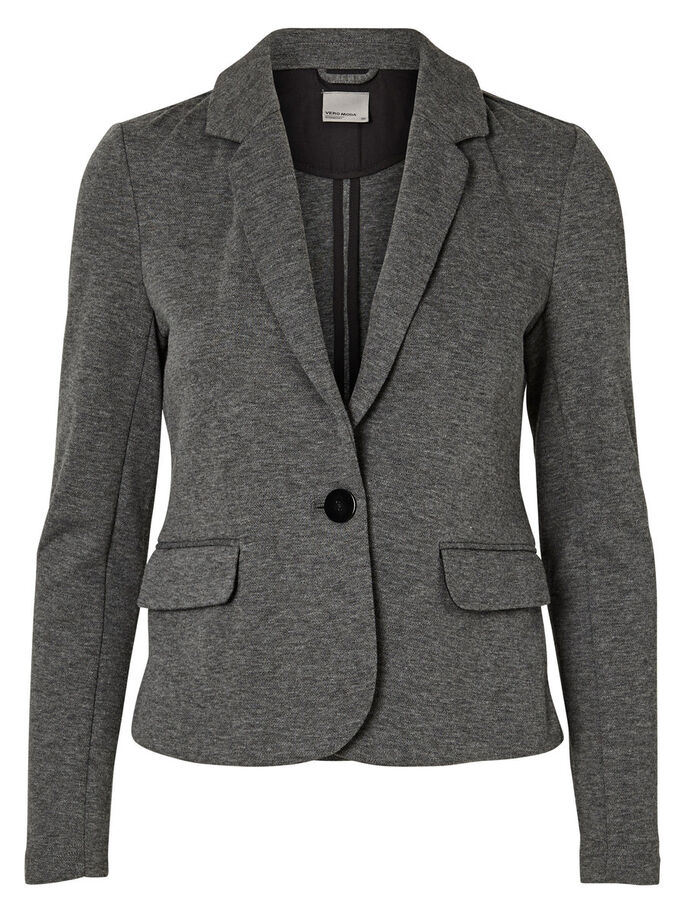 LÅNGÄRMAD KAVAJ, Medium Grey Melange, large