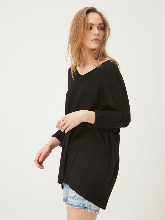 LOOSE FIT PULLOVER, Black, large
