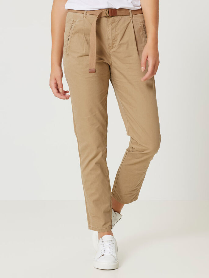 ANKLE CHINO TROUSERS, Tigers Eye, large