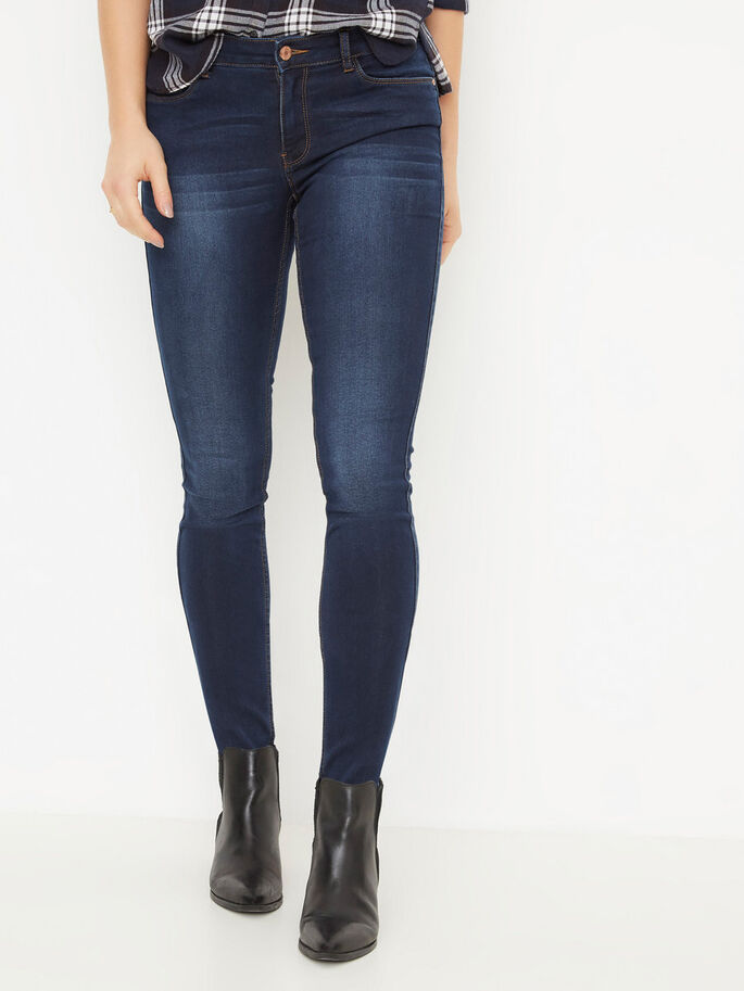 NW LUCY SKINNY FIT JEANS, Dark Blue Denim, large